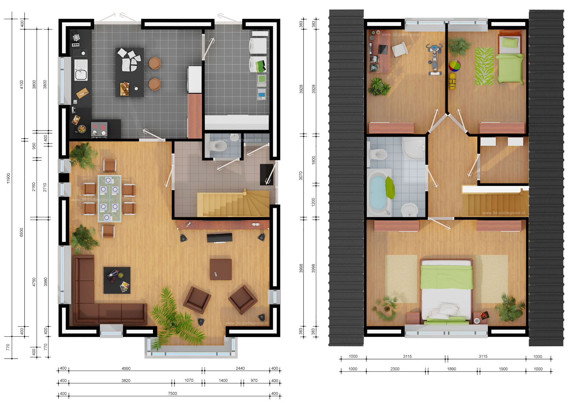 1000 images about plattegronden on pinterest for 3d space planner