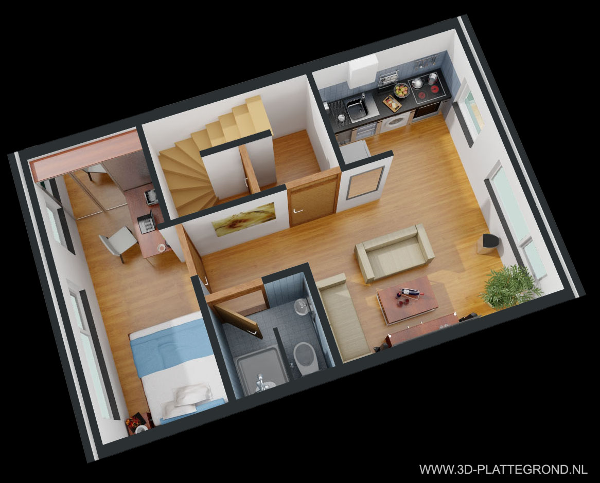 3d plattegrond van uw woning voor een betaalbare prijs for Interieur ontwerpen online gratis