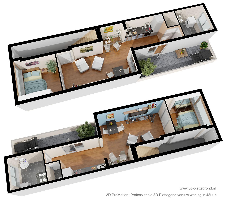3d plattegrond van uw woning voor een betaalbare prijs - Mooi huis deco interieur ...