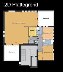 3d promotion 3d plattegrond en interieur impressie van for 2d plattegrond maken