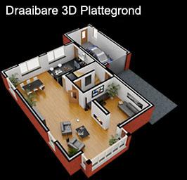 Plattegronden 3d plattegrond en interieur impressie for 3d tekenen op computer