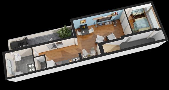 3d plattegrond van uw woning voor een betaalbare prijs for Badkamer tekenen 3d